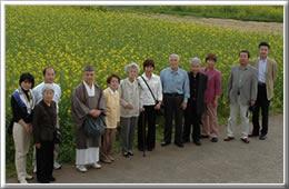 菜の花の丘の花畑