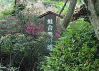 「蛙合戦の池」の表示